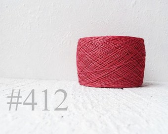 Laceweight Linen yarn - old rose # 412
