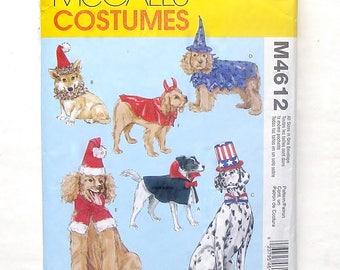 """McCall's Dog Costumes Pattern #M4612 - Dog Sizes XS(11""""), S(16""""), M(21""""), L(26"""") Body Length - Cut and Complete - Cut to Size Large"""