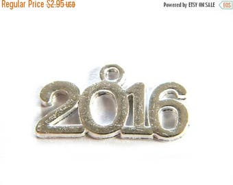 HALF PRICE 10 Silver 2016 Charms - New Year Charms