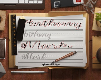 Lowercase modern calligraphy workbook pdf downloadable files