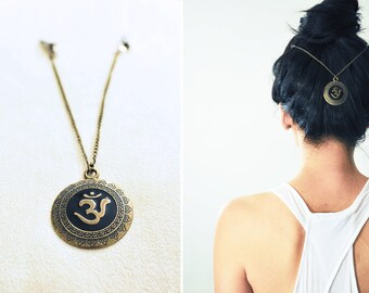 Boho Chic Hair Chain: Om