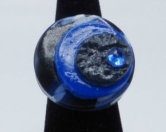 blue ring in polymer clay
