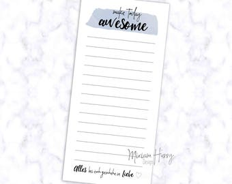 "Notepad ""Make Today Awesome"""