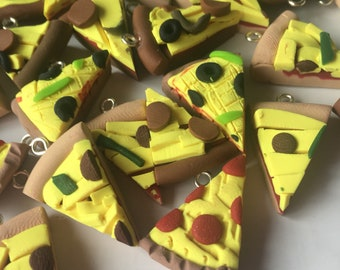 12ct. Polymer clay pizza slices