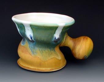 STONEWARE SHAVING MUG #12 - Shaving Bowl - Shaving Cup - Lather Mug - Lather Cup - Lather Bowl - Shaving Supplies - Shaving Accessories