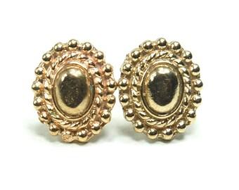 Bronze Regal Oval Stud Post Earrings