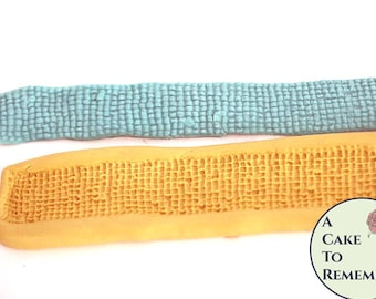 Silicone seed bead belt mold for cake decorating, chocolate, polymer clay, paper clay, gumpaste, resin  M1071