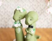 Dinosaur Wedding Cake Topper by Bonjour Poupette