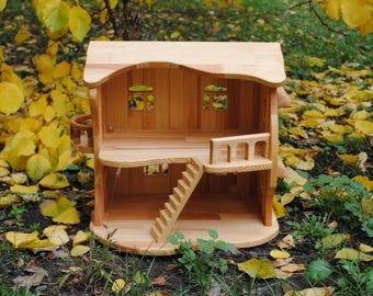 Wooden dollhouse Wood doll house Wooden doll house Fairy dollhouse Dollhouse Dollhouses Wood dollhouse Dollhouse kit Dollhouse set