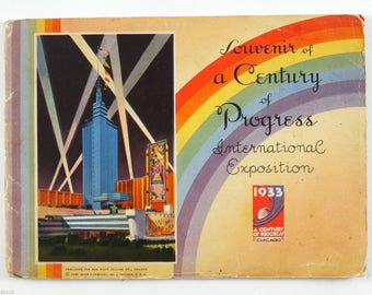1933 US Chicago WORLD'S FAIR A Century of Progress vintage book