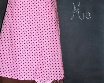 Sample SALE - Will fit Size S/M - Ready to MAIL - A-line SKIRT - Polka Dot and Chocolate Brown Pink Roses - by Boutique Mia