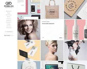 SALE Pebbles Portfolio Clean Blogger Template