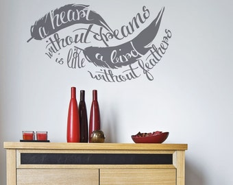 Dreams Wall Sticker Feather Decal