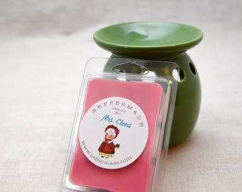 Mrs Claus Scented Wax Melts - 6 cubes, christmas scent, soy wax melt cubes, holiday scent