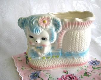 Vintage BABY PLANTER BEAR Bootie Pastel