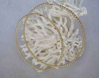 "4"" Diameter Daring Diva Single Rope Gold Earrings"