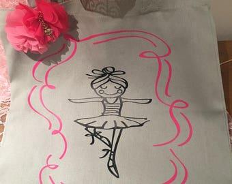 Ballerina Canvas Totes