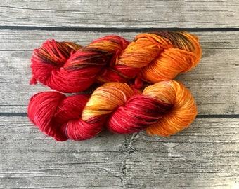 Please Tell Me Nobody Kissed Me - Avengers Series - Superwash Merino Hand Dyed Yarn - DK Weight yarn - Single Ply Yarn