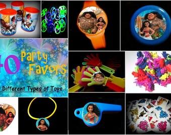 Moana Princess-40 Piece Combo or 28 Piece Combo -Toys  Prizes Pinata Loot  Supplies masks grab bag Party Favors
