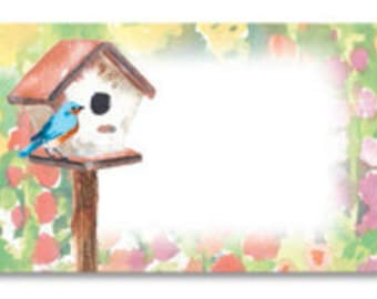 Bird House Watercolor Gift Cards Enclosure Cards Bird Gift Card Watercolor Gift Card Note Card Gift Wrapping Paper Paper Party Supplies