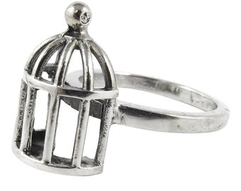 William Griffiths Sterling Silver Birdcage Stack Ring