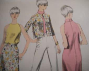 Vintage 1960's Vogue 6795 Special Design Coordinates Sewing Pattern Size 14 Bust 34
