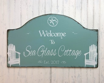 Personalized custom cottage sign, retirement getaway, Cottage vacation home decor, beach house, lake house plaque, River or mountain cabin