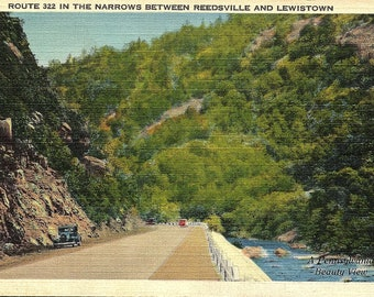 Reedsville, Lewiston, Pennsylvania, Route 322, The Narrows - Postcard - Vintage Postcard - Unused (BB)