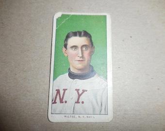 Vintage 1909 - 11  Hook Wiltse Sweet Caporal Cigarattes Baseball card
