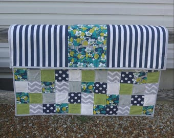 Patchwork Modern Quilt, ready to ship, baby quilt, baby shower gift, lap quilt