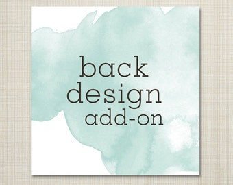 add on - back design to any card.