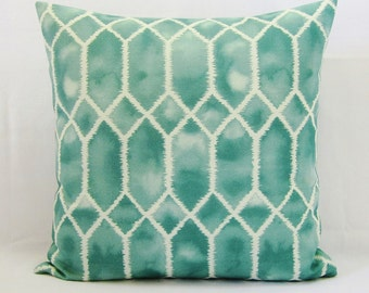 Aqua Pillow Cover Seafoam Seaglass Teal Spa Green Decorative Throw Couch 16x16 18x18 20x20 22x22 12x14 12x16 12x18 12x20 14x22 Zipper