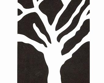 Stencil - Paint Stencil - Craft Stencil - Fiber Art Stencil  - Bare Tree Stencil -  Stencil - Fabric Painting Stencil - CherScapes Stencil