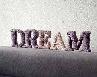 DREAM Crochet Pattern, 3D Alphabet Crochet Pattern, Words Crochet Pattern, Word Crochet Pattern, Home Deco Words Crochet Pattern, DIY Words