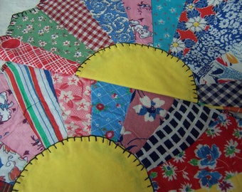 two lovely pinwheel quilt pieces