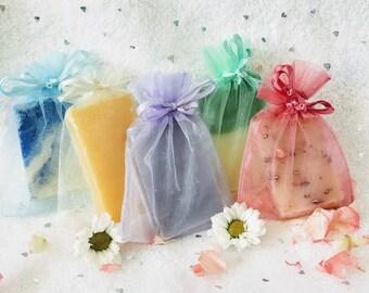 Organza Wedding Soap Favors, Organza soap favors, Wedding soap favors, custom wedding favors, custom soap favors, bridal shower favors, gift