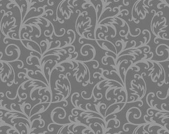Gray Botanical - Spellbound from Henry Glass Studios - Full or Half Yard Gray Vine Blender - Halloween