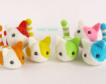 Kawaii Kitters 3: Over The Rainbow - Needle felt cute animal