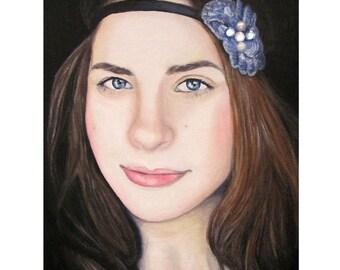 Blissful Beauty - Portrait Artist - By Mixed Media Artist Malinda Prud'homme