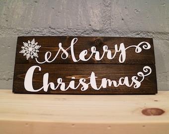 Merry Christmas - Wood Sign