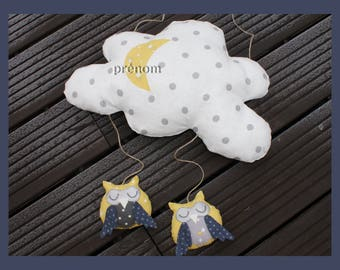 """the little owls"" Customize cloud mobile"