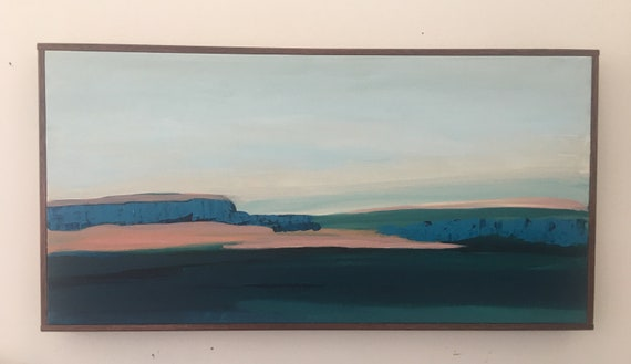 Original abstract landscape painting California Seascape