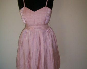 Vintage 1950's Teen Party Dress. Beautiful Candy Pink. Candie Jrs Collection. Size 1  Back Metal Zipper. Easter Dress For Teen.