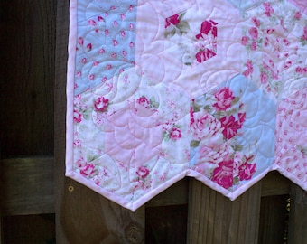 Quilt, Quilts, Custom Quilt,  Farmhouse, Romantic Country, Cottage Chic, Roses,  Girls, Quilts for Sale,  Nursery Bedding,  READY TO SHIP