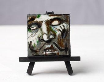 Undead  Circus Ringmaster -Zombie Painting 3x3