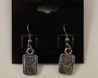 ASL Earring - Deaf American Sign Language Tile Pendant Necklace