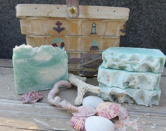 Ocean Rain Soap, All Natural Soap, Handmade Soap, Bath Soap, Cold process Soap, Homemade Soap, Artisan Soap, Gifts For Her, Sea Salt