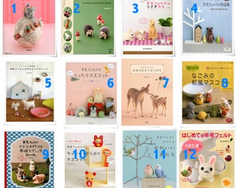 Choose one or more - Needle Felting pattern book