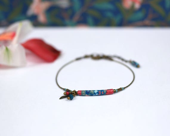 Boheme bracelet with handmade japanese patterns 'Dionee'