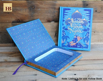 Book Safe - Aladdin and the Arabian Nights- Leather Bound Hollow Book Safe